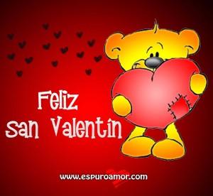 mejores imágenes para san valentin - oso con corazón rojo