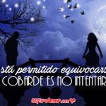 Imagen Gif con Frase de Amor cobarde