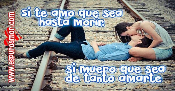 imagenes de parejas besandose apasionadamente sobre riel de tren