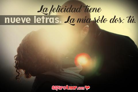 Frase de Amor Puro con Imagen de Pareja de Enamorados para Dedicar con Amor