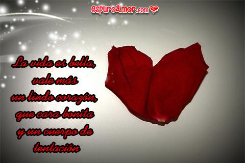 Frase de amor con Imagen de un corazón
