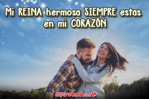 Imagen de Pareja con Frase de Amor con Bonito Cielo Azul para Dedicar a Tu Enamorada