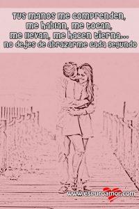 cartel de cariñosa pareja con linda frasecita