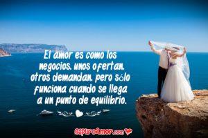 Imagen de Amor para Facebook con Pareja de Enamorados y Frase de Amor