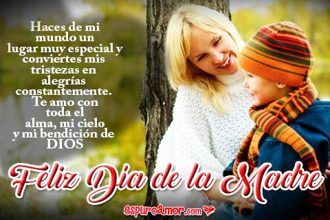 Frase para Esposa bendición de Dios en Día de la Madre