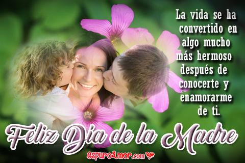 Tarjeta por el Día de la Madre con Frases de Amor para Dedicar a Tu Esposa