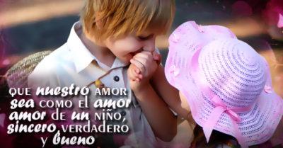 Imágenes de niños con frases de amor