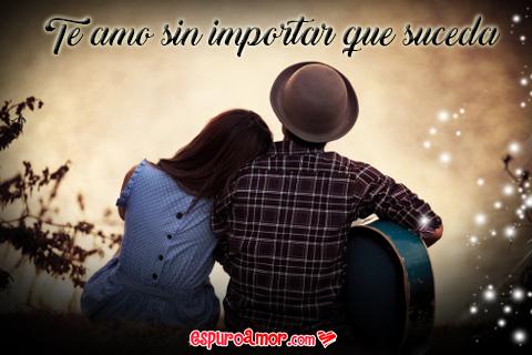 Imagen de Pareja de Niños Enamorados con Frase de Amor para Facebook