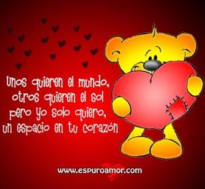 cartel de oso amoroso con un corazón