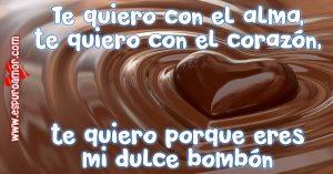 poemas de amor corto con corazon de chocolate