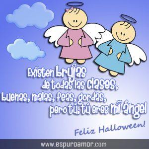 carteles de amor para halloween con angeles