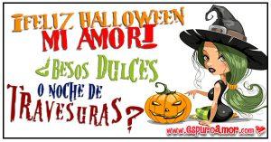 imágenes de amor para halloween con brujita que pide dulces