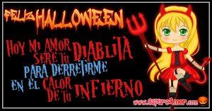 imágenes de amor para halloween con imagen de diablita enamorada