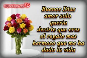 Imágenes de Amor de Rosas con Buenos Días para tu Novia