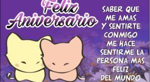 Frases de Aniversario de Novios con Imágenes de Gatos