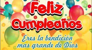 Felicitaciones de cumpleaños con globos