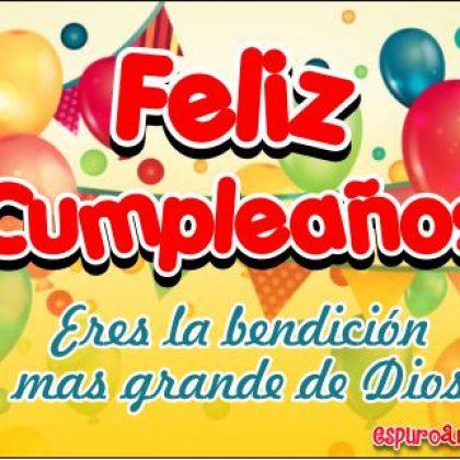 Tarjetas de Cumpleaños con Globos de Fiesta para Dedicar