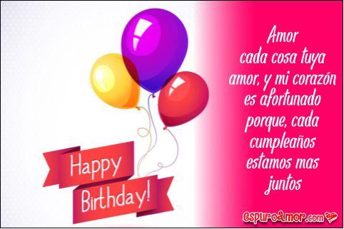 Tarjeta con lindos globos para un cumpleaños