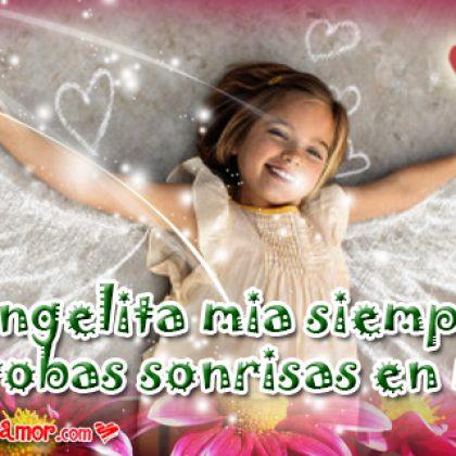 Dedicatorias de Ángeles para una Hermosa Angelita