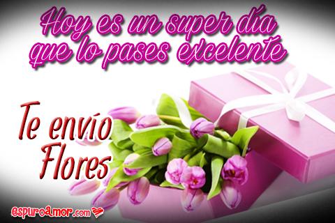 Ramo floral en caja de color rosado