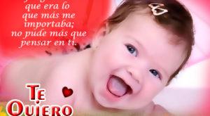 Imágenes de bebes diciendo te quiero