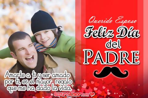 Bonita frase para Papá en linda postal por el día del padre