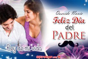 Tarjetas de Amor con Feliz Día del Padre para Novio