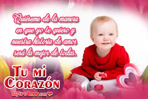 Bebita con corazones y flores para compartir
