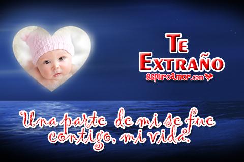 Imágenes de Lindos Bebes con Te Extraño para Compartir