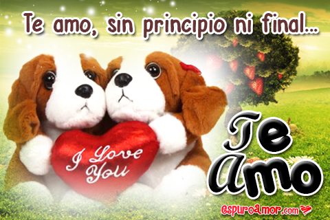 Parejita de perritos i love you para regalar en facebook