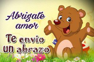 Frases de Te Envío un Abrazo con Tiernos Animalitos