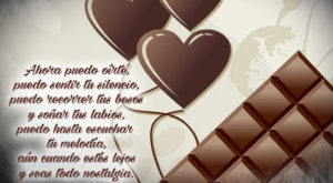 Chocolates con poemas de amor