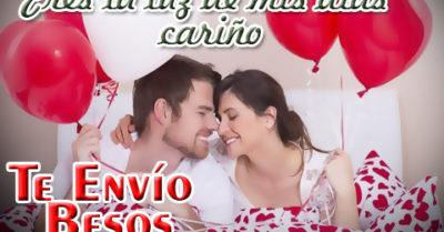 Imágenes de Parejas Enamoradas con Te Envío Besos
