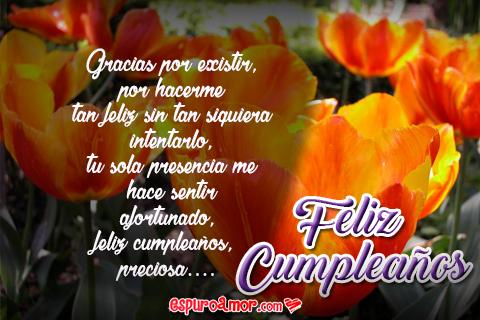 Hermosas Frases de Feliz Cumpleaños con Flores para Novia
