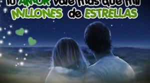 Imagen de Amor con Cielo Estrellado y Bonita Frase de Amor
