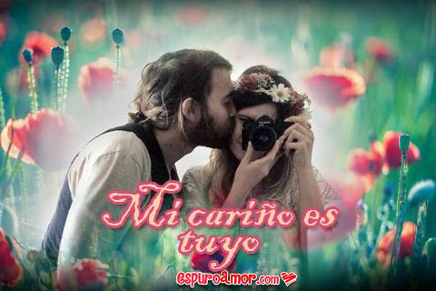 besando a la linda fotografa
