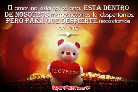 tierno osito con corazón I love you